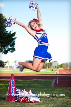 Yearbook: Individual Photo Idea. Also, if I have a daughter, she's going to be a cheerleader so I might as well get photo ideas.