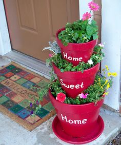 Young Texan Mama: Lovely Tiered Planter
