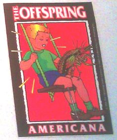"The Offspring Americana 3""x4.5"" STICKER DECAL deadstock new old stock"