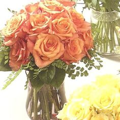 Stunning pictures of wedding flowers, corsages, reception decorations and the latest in floral design Peach Flowers, Orange Flowers, Rose Rise, Rose Bridal Bouquet, Reception Decorations, Corsage, Wedding Flowers, Floral Design, Plants