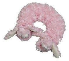 Swirlz Fur Bunny Pink Travel Pillow