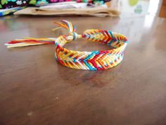 Fishbone Style Friendship Bracelet. $8.00, via Etsy.