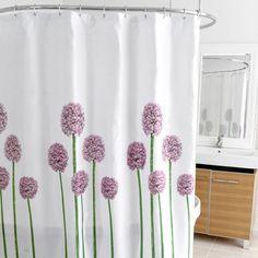 Allium Fabric Shower Curtain