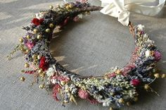 Bridal Flower Crown Dried Lavender and Dried by paulajeansgarden