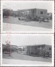 Vintage Photos Travel Trailer Park Mobile Homes 737806