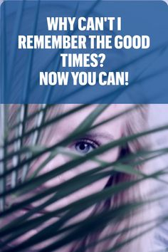 When you are going through hard times, it seems harder to recall the good times. Why is that? This article explores the relationship between anxiety and memory...and what you can do about it. #mindfulness #memory #anxiety #beingpresent #aging #relationships