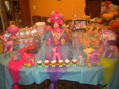 Brooklyns my little pony party tablescape