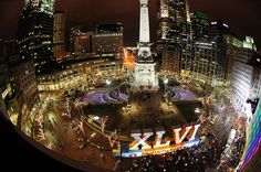 Awesome shot in downtown Indianapolis, welcome to our beautiful city Super Bowl fans!