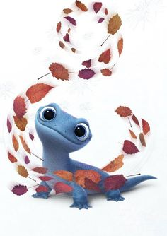 Bruni the Fire Spirit Salamander from Frozen 2 Cartoon Wallpaper Iphone, Disney Phone Wallpaper, Cute Cartoon Wallpapers, Frozen 2 Wallpaper, Princesa Disney Frozen, Frozen Two, Kristen Bell, Disney Pictures, Disney Drawings