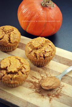 Moje Dietetyczne Fanaberie: Proste muffiny dyniowe bez dodatku tłuszczu i prod...
