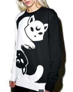 Kill Star Yin Yang Sweatshirt | Dolls Kill