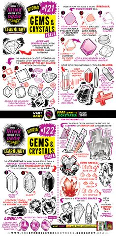 How to draw GEMS and CRYSTALS tutorial by STUDIOBLINKTWICE