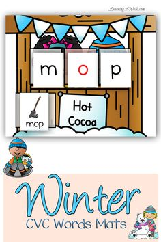 Free Winter CVC Words Mats from Learning 2 Walk