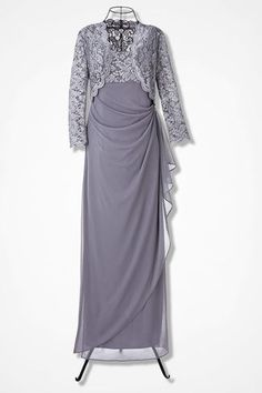 a58644194183 Gala Jacket Dress by Alex Evenings Alex Evenings, Mesh Dress, Jacket Dress,  Tulip