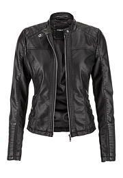 moto jacket with rib