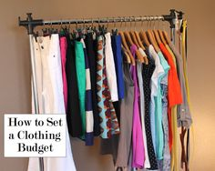Helpful tips for how to set a clothing budget and stick to it!