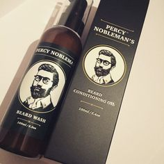Percy Nobleman's Beard Wash is a unique combination of the ultimate organic ingredients, created to softly cleanse your beard, while helping to maintain a balan Beard Wash, Cleanse, Conditioner, Bottle, Products, Flask, Jars