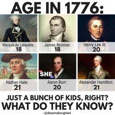 "In my shot Hamilton said ""I'm only 19 but my mind is older"" when that song took place back in I. Alexander Hamilton, History Memes, History Facts, Fandoms, Overwatch, Hamilton Lin Manuel Miranda, Hamilton Fanart, Aaron Burr, Hamilton Musical"