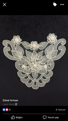 This post was discovered by ra Machine Embroidery Patterns, Embroidery Stitches, Romanian Lace, Beading Tools, Jewelry Drawing, Point Lace, Herd, Needle Lace, Irish Crochet