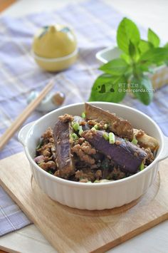 stir fried eggplant with miso ingredients 200 g minced pork 2 eggplant ...