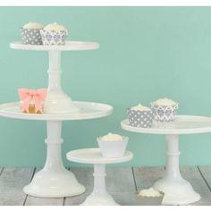 """White Cake Stand, 12"""""""