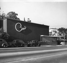 Historic Photograph of Ciro's Nightclub On Sunset Blvd. In West Hollywood