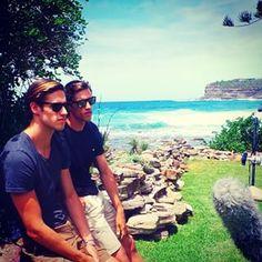 BTW, Jordan and Zac are from Sydney, Australia. Triplets, Twins, Brotherly Love, Twin Brothers, Australian Models, Male Models, Falling In Love, Jordans, Mens Sunglasses