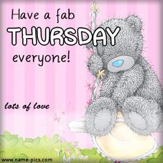 TATTY TEDDY THURSDAY