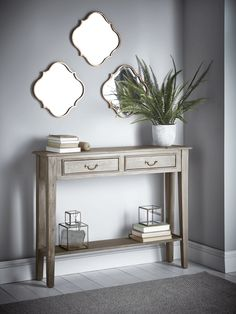 Limewashed Console Table - Tables - Furniture