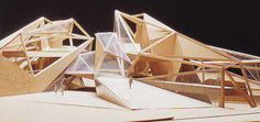 PINTURA, ARQUITECTURA Y CURIOSIDADES...ARTE EN GENERAL  (PAINTING, ARCHITECTURE AND OTHER INTERESTING THINGS) Folding Architecture, Concept Models Architecture, Library Architecture, Parametric Architecture, Urban Architecture, School Architecture, Amazing Architecture, Jungle House, Arch Model
