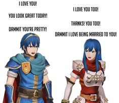 The screaming couple has arrived Fire Emblem Awakening, Fire Emblem Games, Fire Emblem Marth, Robin, Fire Emblem Warriors, Deer Girl, Fire Emblem Characters, Chef D Oeuvre, Naruhina