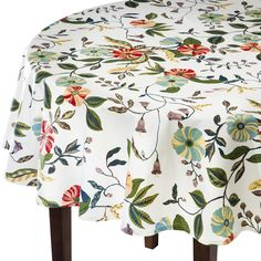 "Threshold� Vines Round Tablecloth (70"")"