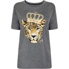 Juicy Couture Crowned Animal Graphic T Shirt Jumper Shirt 02814f82b214