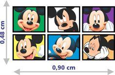 Adesivo Quadro Mickey Mouse Parede Decorativo Alta Resolução - R$ 69,90 em Mercado Livre