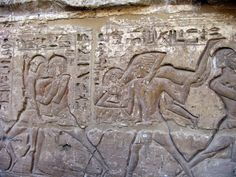 Relief depicting wrestling. Temple of Ramesses III, Medinet Habu.