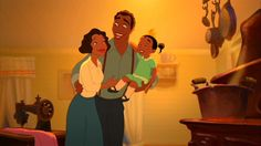 Day 24: Favorite parents = Tiana's parents always believed in her and encouraged her to follow her dreams.