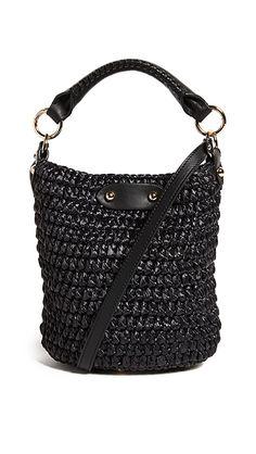 Diane von Furstenberg Mini Raffia Bucket Bag   SHOPBOP