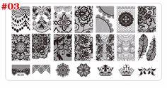 1 шт. новый черный цветок кружева ногтей штамповки пластин из нержавеющей стали ногтей штамп шаблон маникюр инструменты купить на AliExpress
