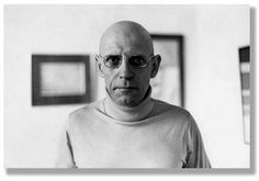 Michel Foucault, kind of like the anti Steve Jobs in his white turtleneck...