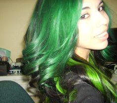 favorite green hair