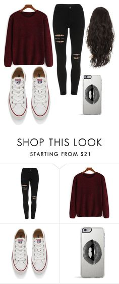 """Maroon"" by queenboyd23 on Polyvore featuring Converse, Lipsy, women's clothing, women's fashion, women, female, woman, misses and juniors"