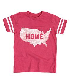 Another great find on #zulily! Hot Pink 'Home' Football Tee - Toddler & Girls by Festuvius #zulilyfinds