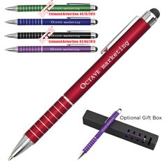 Aluminum Metal Pen Stylus combo. 5 colors to choose from. Just $1.90 at 150 or more. No setup.