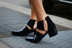 Alexander Wang Nadine cut-out shoe boots. Crazy Shoes, Me Too Shoes, Daily Shoes, Shoe Boots, Shoe Bag, Ankle Boots, Shoes Heels, Ugg Boots, Pumps