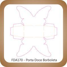 Faca Corte e Vinco FDA170 - Porta Lembrança Borboleta