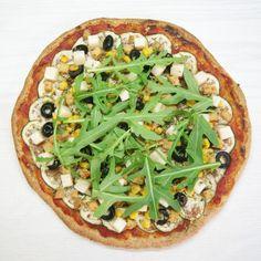 Pizza de espelta - la gloria vegana