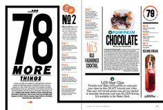 Have a number theme? Or a list theme? Large numbers, list of numbered items. Substitute text blocks with photos. Use ruled lines to separate elements. Editorial Design by Yoomi Song, via Behance Editorial Design Layouts, Magazine Layout Design, Magazine Layouts, Yearbook Layouts, Yearbook Design, Yearbook Spreads, Yearbook Ideas, Newspaper Layout, Newspaper Design