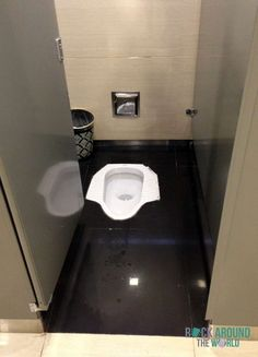 Hocktoilette (Stehklo) in Chengdu, China (toilet)
