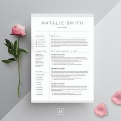 Resume Templates Word Resume & Cover Letter Template by DemeDev on @creativemarket Ready for Print Resume template examples creative design and great covers, perfect in modern and stylish corporate business. Modern, simple, clean, minimal and feminine layout inspiration to grab some ideas.