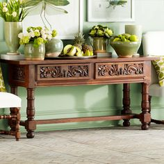 the craftsmanship of this piece is beautiful. Handcarved European Buffet | Console Tables & Buffets